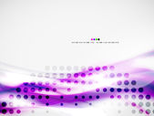 Wave abstract design template — Stock Vector