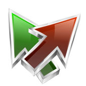 3d color arrows concept icon — Wektor stockowy