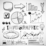 infografica business grafici doodles — Vettoriale Stock