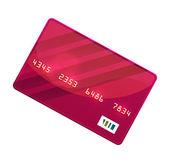 Vettore di colore carta di credito — Vettoriale Stock