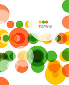 Colorful geometrical circles background — Stock Vector