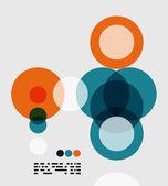Moderna geometriska abstrakt bakgrund — Stockvektor