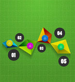Infographics geometrical steps option banner — Vettoriale Stock