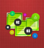 Infographics geometrical steps option banner — Vecteur