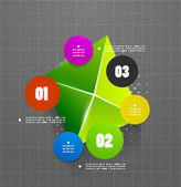Infographics geometrical steps option banner — 图库矢量图片