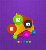 Infographics geometrical steps option banner — Wektor stockowy