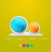 Modern circle steps infographics — Stock Vector
