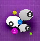 语音泡沫步骤选项横幅模板 — 图库矢量图片
