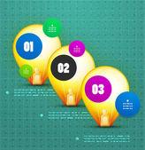 Light bulb option banner template — Stock Vector