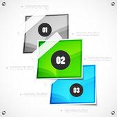 选项的步骤现代模板 — 图库矢量图片