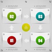 Options steps modern template — Stock Vector