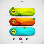 Infographics modern design template — Stock Vector
