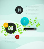 Leaf nature infographics modern template — Stock Vector