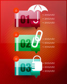 Speech cloud infographic template — Stock Vector