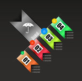 Ribbon modern infographics template — Stock Vector