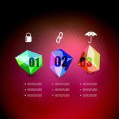 Infographics geometrical steps option banner — Stock Vector