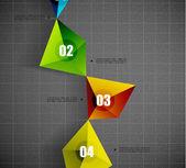 Modèle de forme géométrique moderne — Vecteur