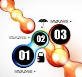 Soyut fütüristik infographics şablonu — Stok Vektör