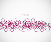 Abstract circles pattern template — Vettoriale Stock