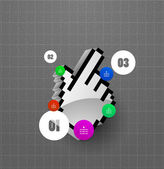 Optie stappen vector sjabloon — Stockvector