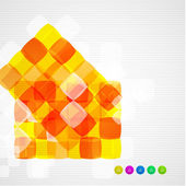 Abstract squares geometrical modern template — Stock Vector
