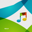 Modern paper design music concept — Stock Vector