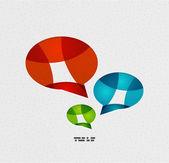 Modern paper design chat concept — Cтоковый вектор