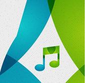 Modern paper design music concept — Stock Vector
