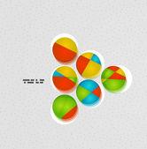 箭头下一个多彩概念 — 图库矢量图片