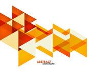 Triângulos de negócio laranja — Vetor de Stock