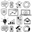 Hand drawn seo doodles / icon set — Stock Vector #28472597