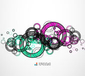 Abstract circles composition — Stock Vector