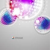 Futuristic colorful circles — Stock Vector