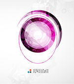 Futuristic circle abstract background — Stock Vector