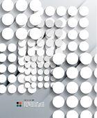 Vettore 3d carta cerchi design moderno — Vettoriale Stock