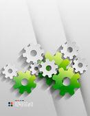 Gears set — Stock Vector