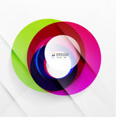 Abstract flowing shapes modern colorful design — ストックベクタ