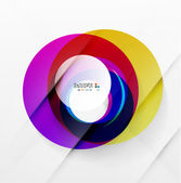 Modern colorful abstract circles — Stock Vector