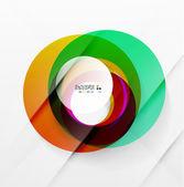 近代的なカラフルな抽象的な円 — ストックベクタ
