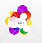 カラフルなレインボー泡抽象的な背景 — ストックベクタ