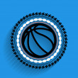 Vector basketball ball icon flat icon — Stock Vector