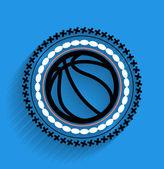 Vector baloncesto bola icono plana icono — Vector de stock