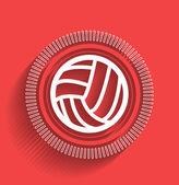 Vector volleyball icon flat modern design — Stock Vector