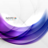 Abstract purple swirl design — Stock Vector