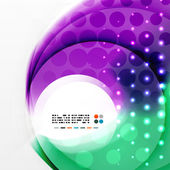 Radial colorful futuristic background — Stock Vector