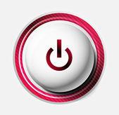 Color power button — Stock Vector