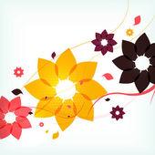 Pozadí abstraktní podzimní květina — Stock vektor