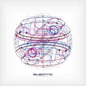 Sphere circuit — Stock Vector