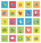 Flat icon set : universal icons — Stock Vector