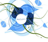 Blue cold abstract vector background — Stock Vector